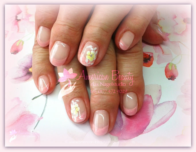 'Pretty in PInk' - Gel Modellage mit Airbrush Design