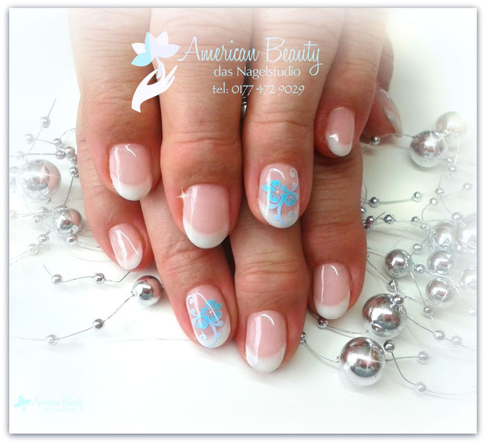 'Flowery French' - Gel Modellage & Airbrush Design