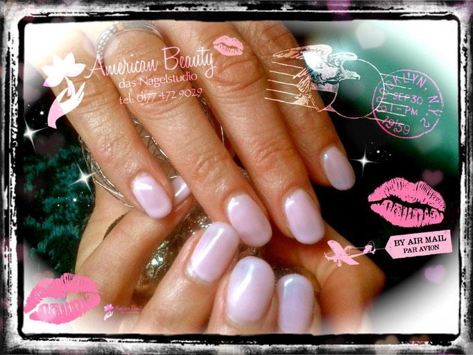 Acryl Nägel: Pastell Pink