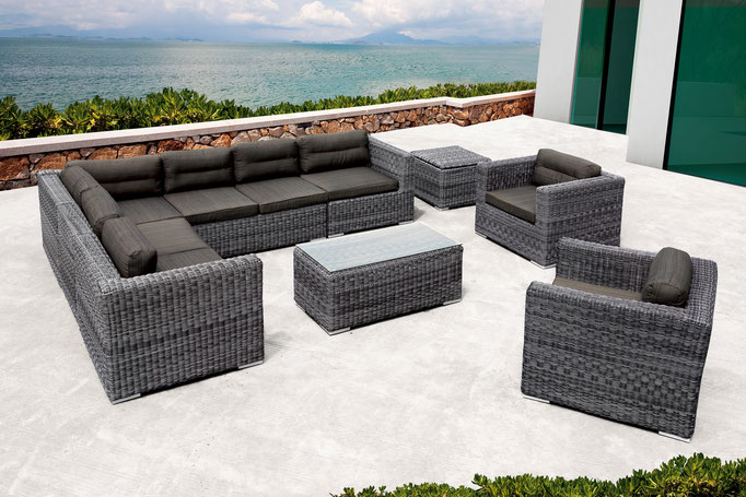 Loungegruppe Hemingway M - Modulsystem | Edel Grau