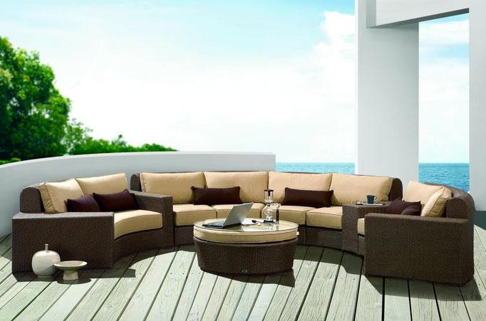 Loungegruppe Sunrise I | Polyrattan Geflecht auf Alugestell