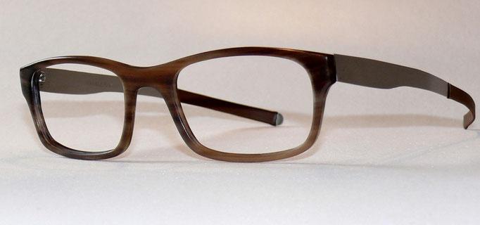 Büffelhornbrille mit Federstahlbügeln