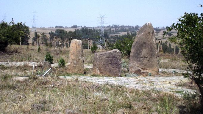 Tiya Stelae Field. Voyage Séjour Trek et randonnée, Road trip et visite de la Région Oromia en Ethiopie.  Le cimetière de Tya