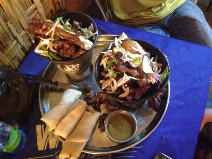 Les fameuses Injira Goat ribs d'Arba Minch