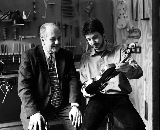 Violinist Igor Oistrakh & Thomas Meuwissen © Mirjam Devriendt, 2005