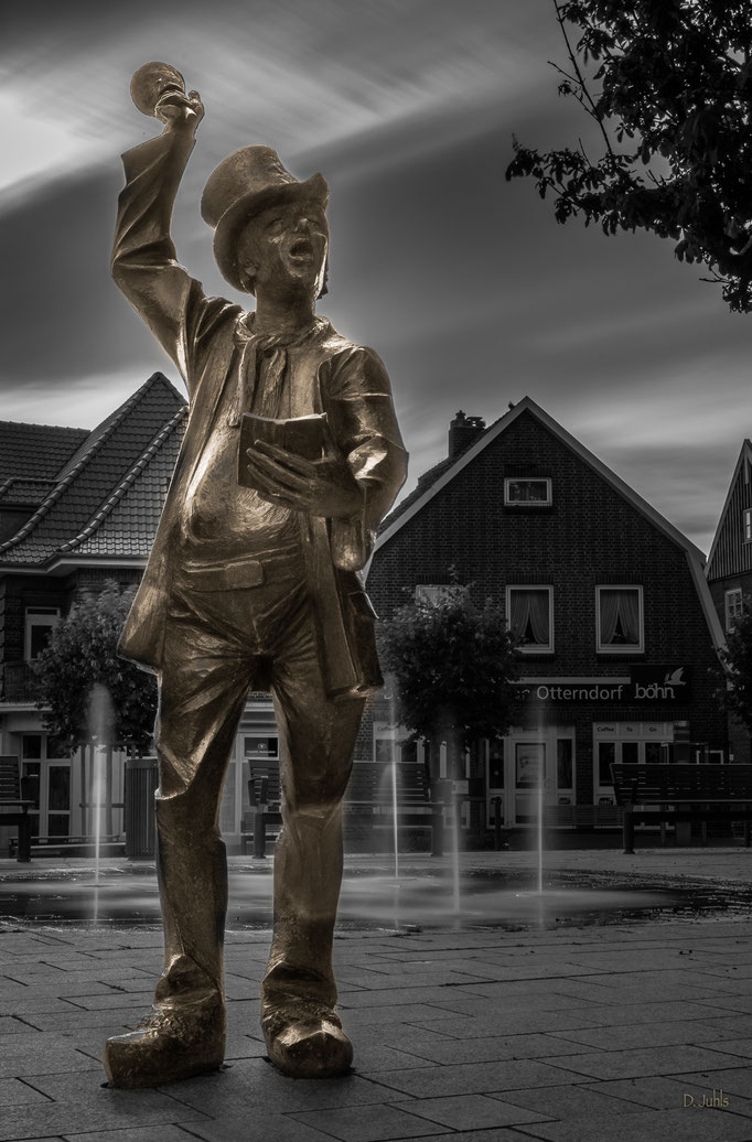 """Statue """"De Utröper"""", Otterndorf"""
