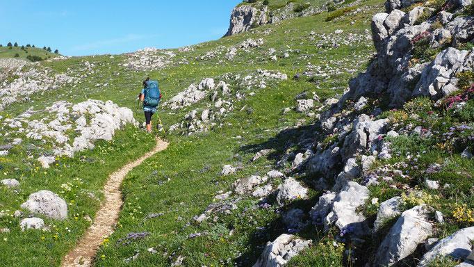 Trek dans le Sud du Vercors. Voyage Max de Nature