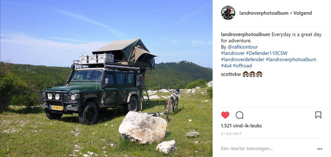 Rafiki on Tour wildcamping in Bosnia with the Defender 110
