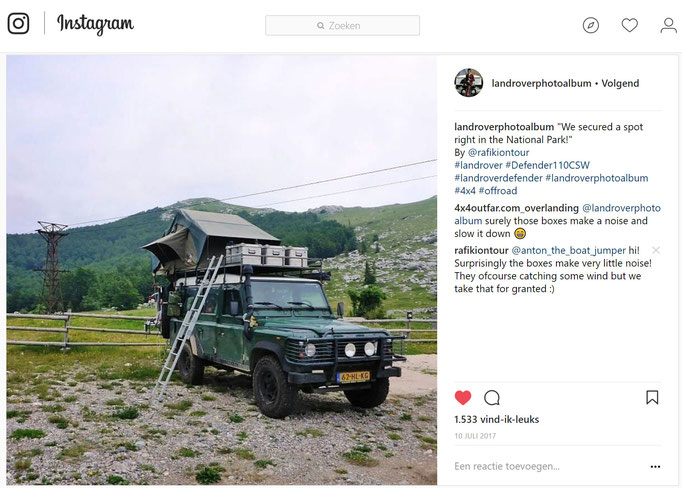 Land Rover Defender rooftent camping in Croatia