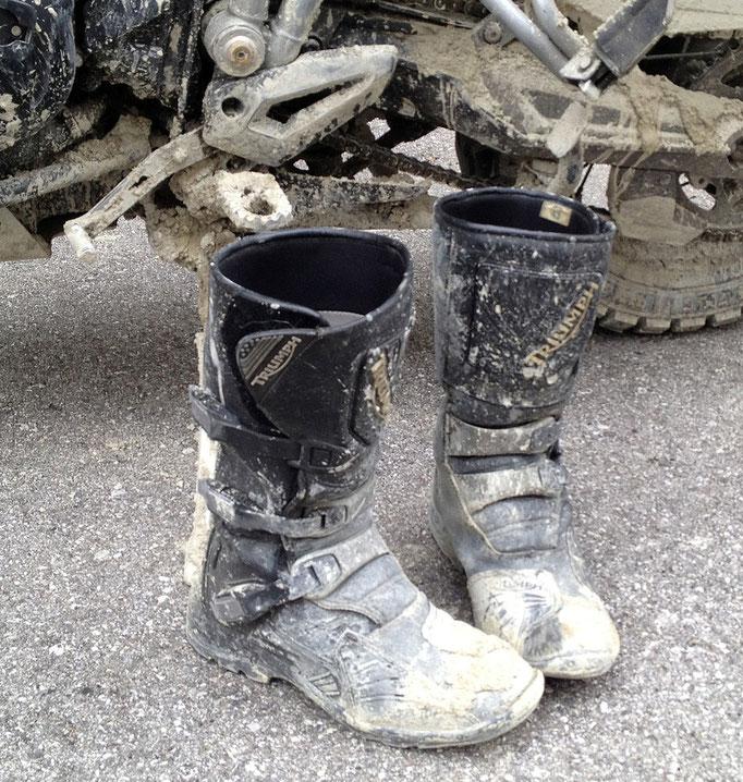 Der Stiefel bewährte sich auch unter härtesten Offroad-Bedingungen
