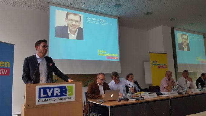 Lars Oliver Effertz, Fraktionsvorsitzender der FDP im LVR