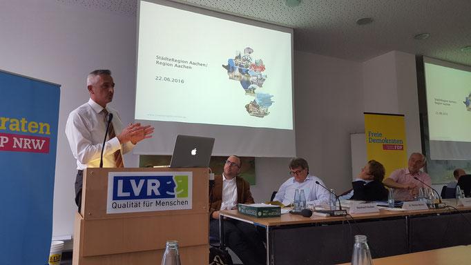 Dr. Werner Pfeil, stv. Fraktionsvorsitzender der FDP in der Städteregion Aachen