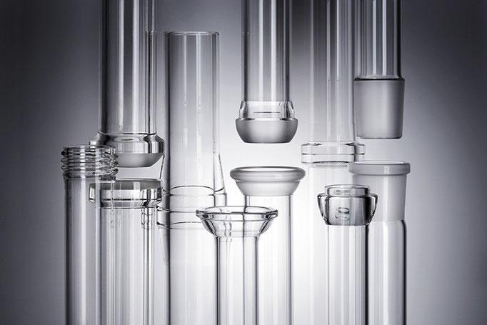 Werbefotografie von Glasbauteilen für die Normag Labor- und Prozesstechnik GmbH Ilmenau