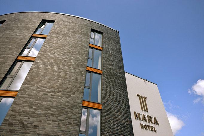 Außenaufnahme, Architekturfotografie für das Hotel Mara in Ilmenau