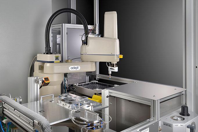 Detailfotografie einer Anlage für MRB Automation GmbH