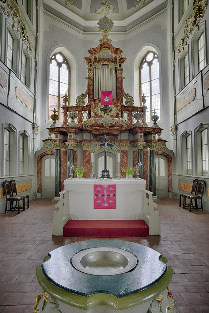 Innenaufnahme, Altar St. Jakobus Kirche Ilmenau
