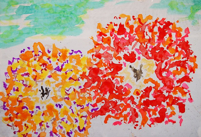 flower #36 wotercolors on japanese paper 15.8×22.7cm