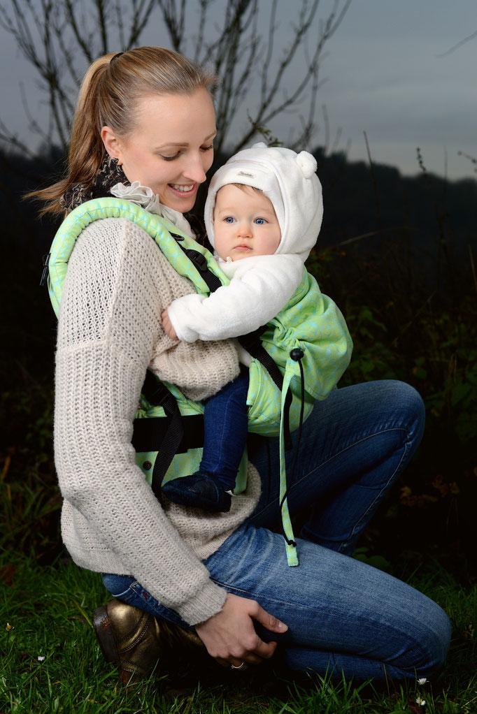 Huckepack Full Buckle Babytrage - Flowery Meadow