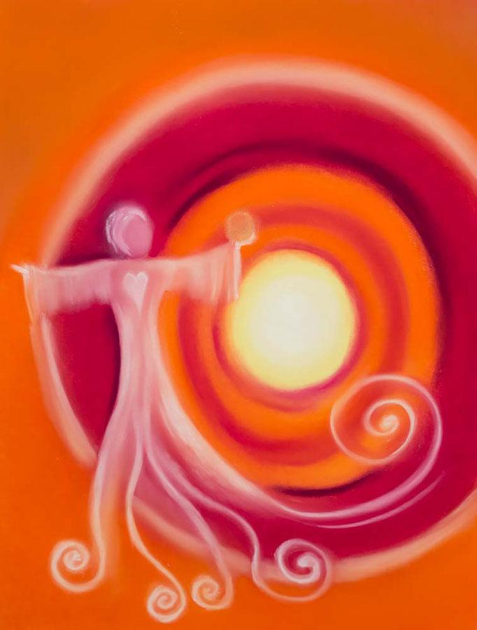 Engelbild Nr. 2 *Engel der Wunscherfüllung* von renate maria blatter