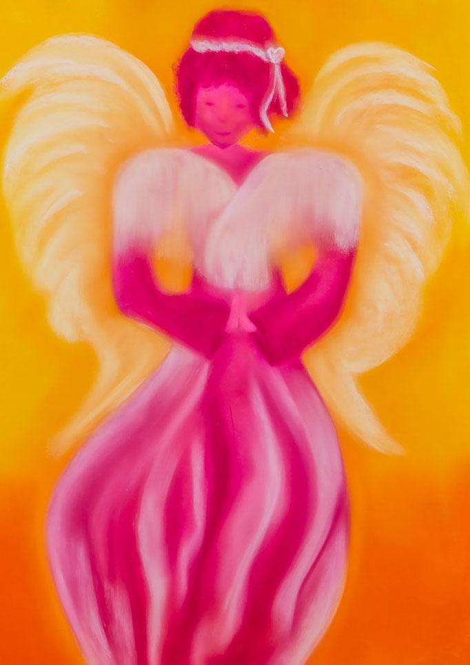 Engelbild Nr. 11 *Engel der Herzensfreude* von renate maria blatter