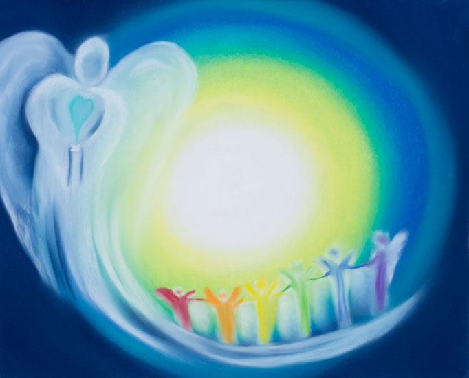 Engelbild Nr. 8 *Hüter der sieben Strahlen* von renate maria blatter