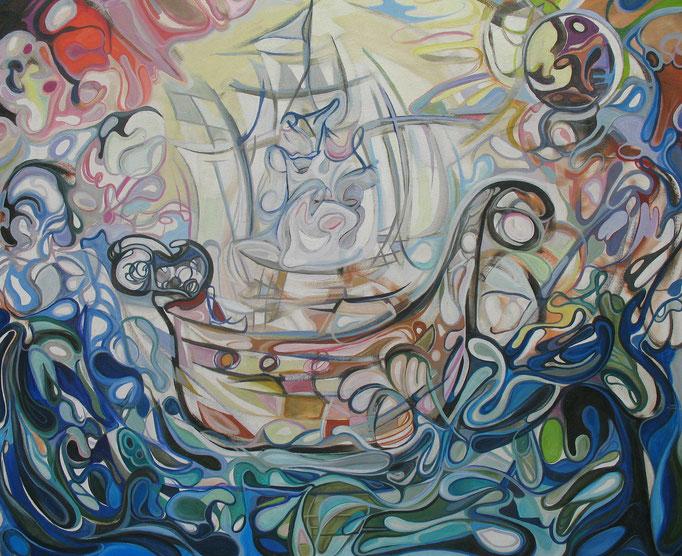El buque fantasma / Óleo sobre lienzo / 100 x 120 cm / 2006