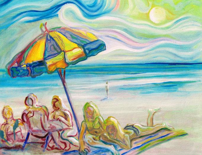 Las bañistas / óleo sobre lienzo / 40 x 50 cm / 2008