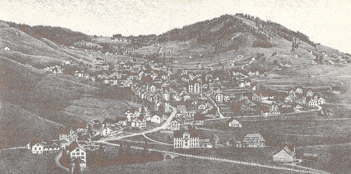 GAIS - Um 1920 - Grafik von Paul Wyss
