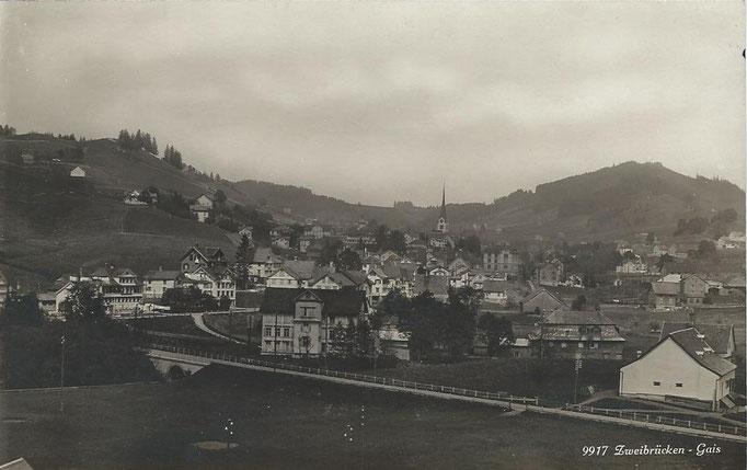 GAIS - Zweibrücken mit Strasse nach Appenzell