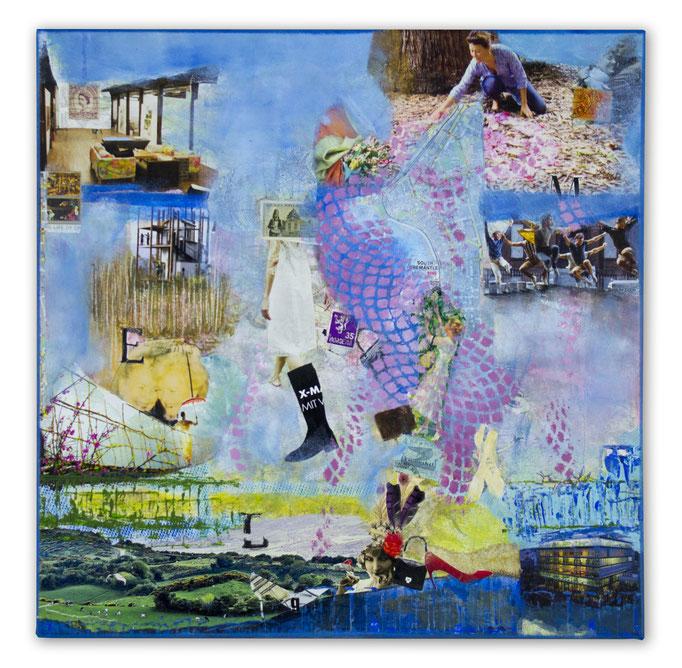 HOMELAND Es gibt eine Vitalität, eine Lebenskraft, eine Energie, eine Anregung, die durch dich in Handlungen umgesetzt werden und da es dich über alle Zeiten hinweg nur einmal gibt, ist dieser Ausdruck einzigartig (Martha Graham), 40 cm x 40 cm