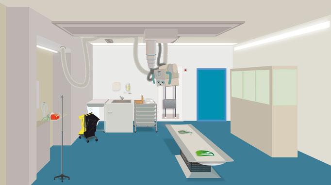 Illustration de prévention contre l'exposition accidentelle à la radiation, destinée aux manipulateurs en radiographie, 2008