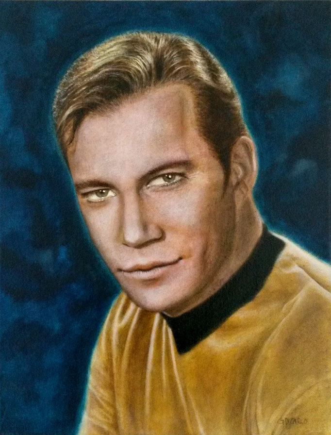 Captain Kirk (William Shatner), 45 x 35 cm canvas