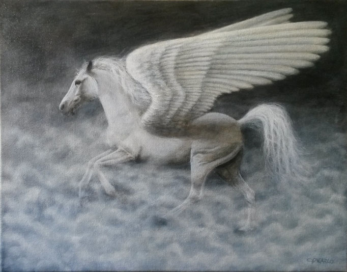 Pegasus, canvas, 45 x 35 cm (18 x 14 in.) canvas