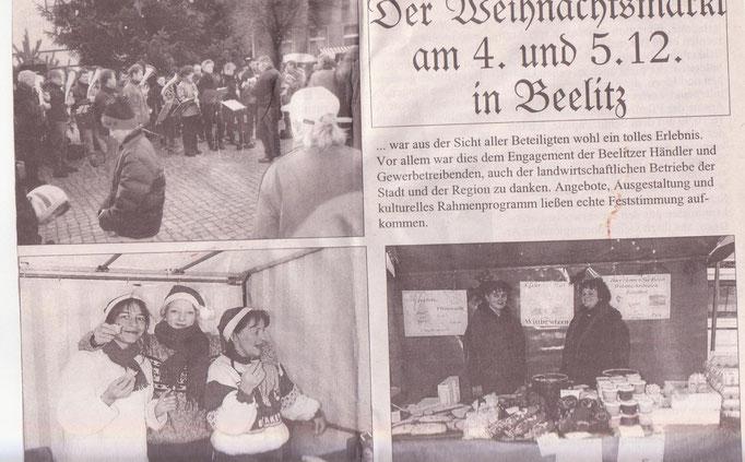 Presse zum Weihnachtsmarkt.