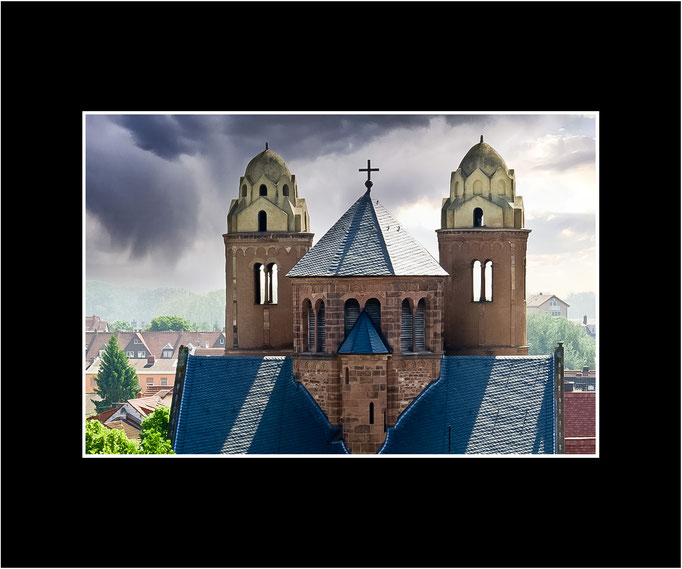 FW65 Westtürme Pauluskirche (Norbert Rau) [Passepartout auch in weiß möglich]