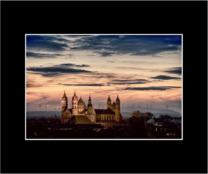 FW23 Dom St. Peter im Abendlicht (Norbert Rau) [Passepartout auch in weiß möglich]