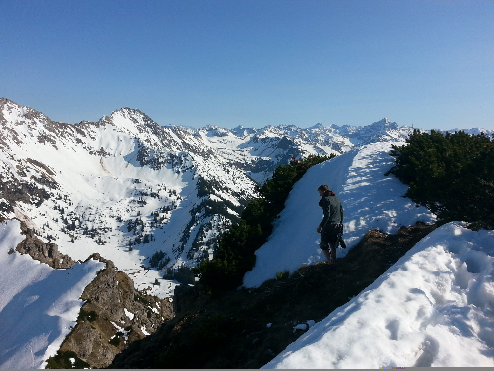 Ski&Climb, Bschießer Südkante, April