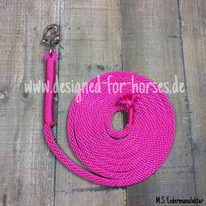 Kurzlonge in Pink mit Panikhaken / Karabiner aus Edelstahl