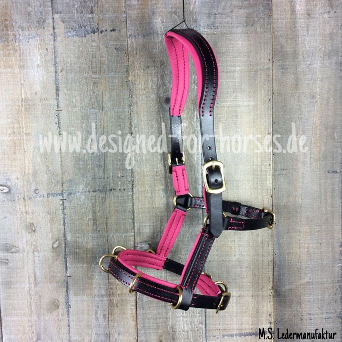 Kappzaum mit Ganaschentrennring, Wesh-A Schwarz-Pink