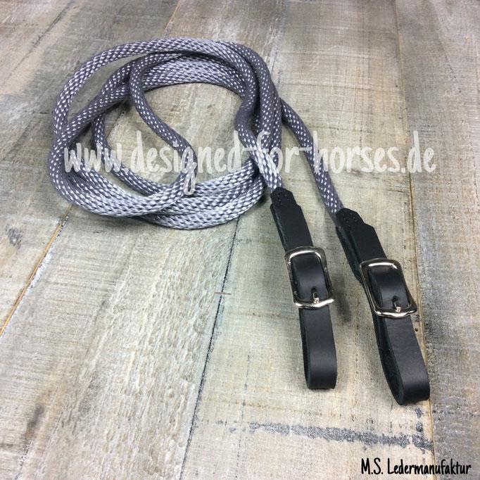 Zügel Langzügel, Doppellonge aus PPM Seil individuell nach Maß mit Schnallen. pferdefreundlich longieren, Bodenarbeit, sanfte Pferde