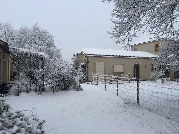 La propriété sous la neige