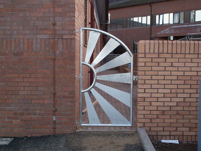 Galvanised Sun Gate