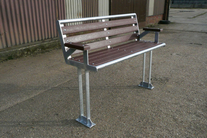 Galvanised Park Bench