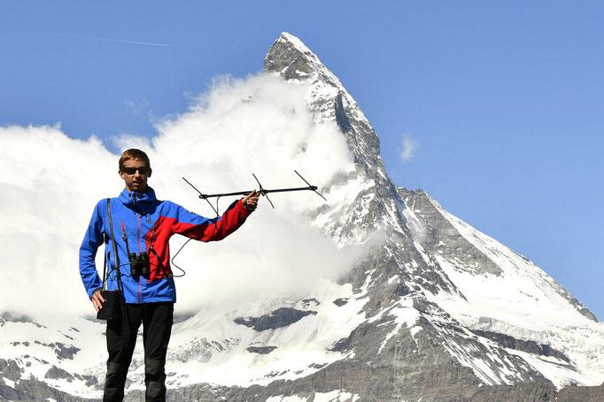 Suivi télémétrique de Niverolle alpine dans les Alpes suisses (Valais), face au Cervin