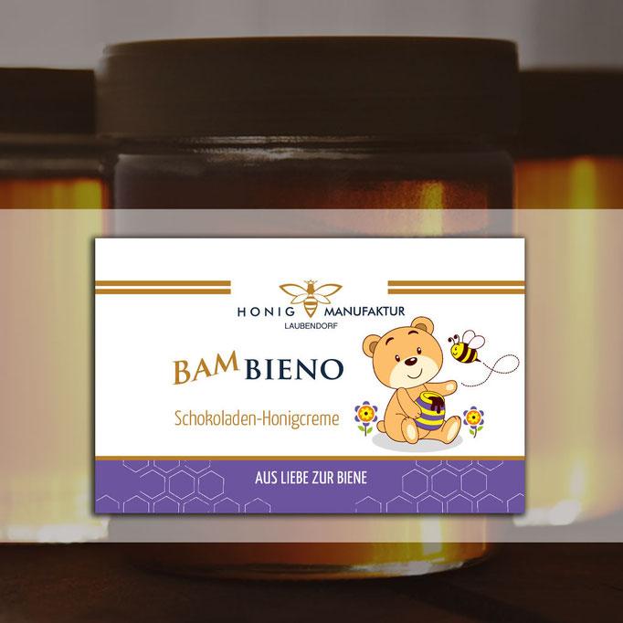 Honigetiketten für die Honigmanufaktur Laubendorf