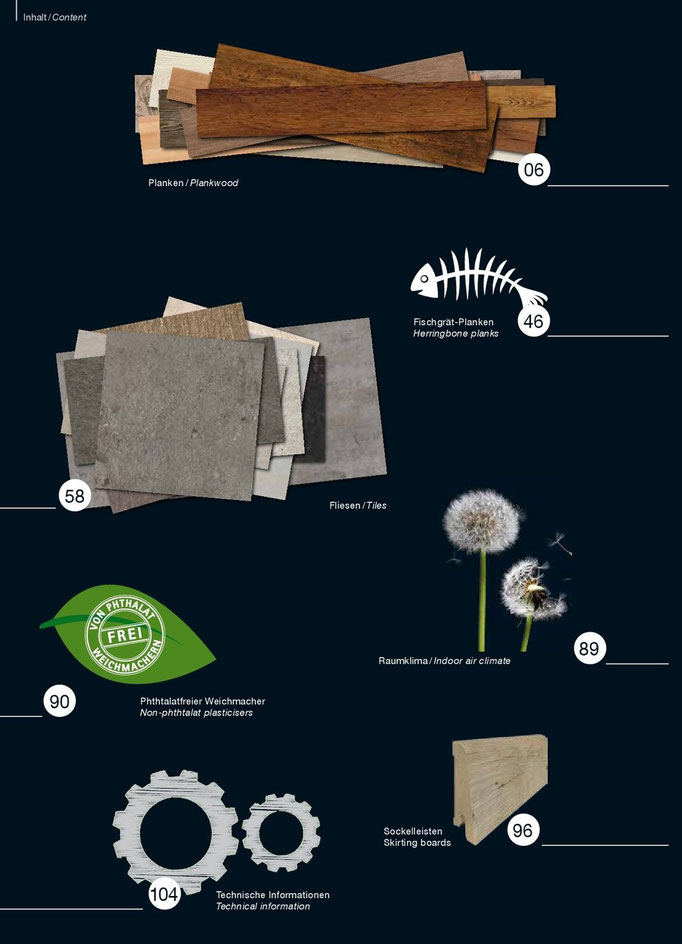 Neue Kollektion Design Vinyl Beläge 2015