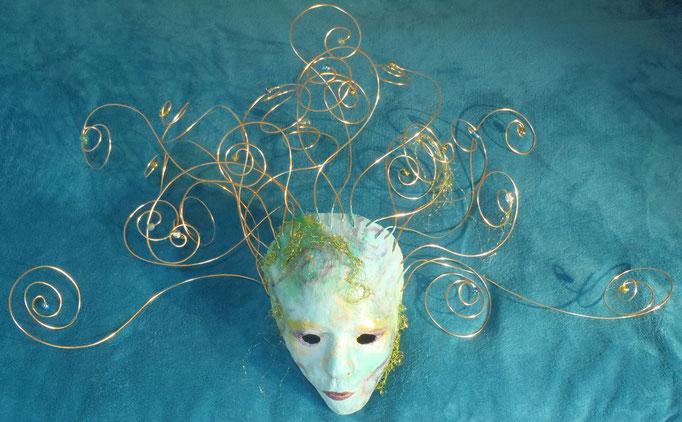 Wasserwirbel - Gips-Maske - unverkäuflich