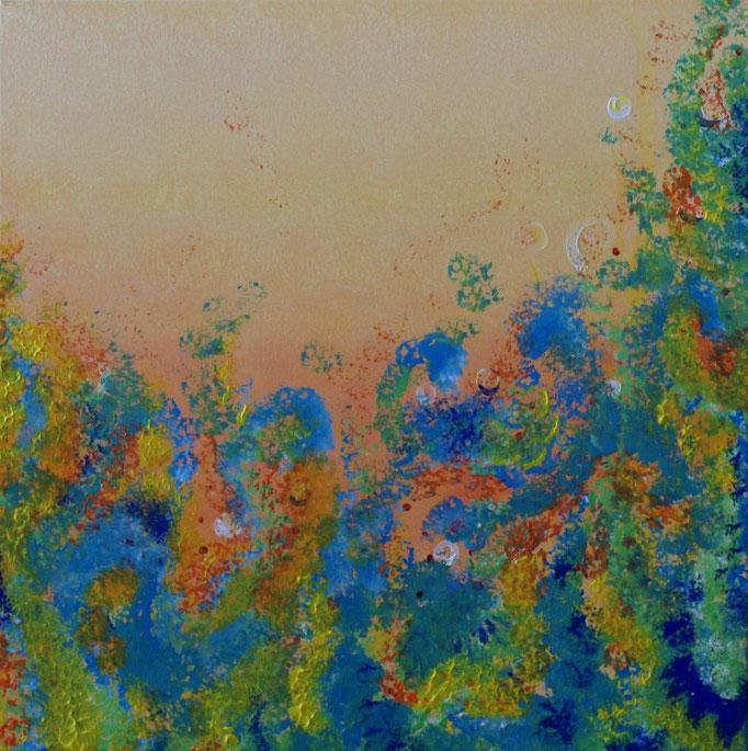 Tanz der Freude - 50 x 50  - Acryl auf Leinwand