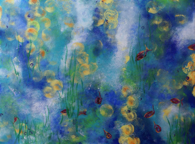 Wassermärchen - 60 x 80  - Acryl auf Leinwand - Fr. 470.- inkl. Rahmen
