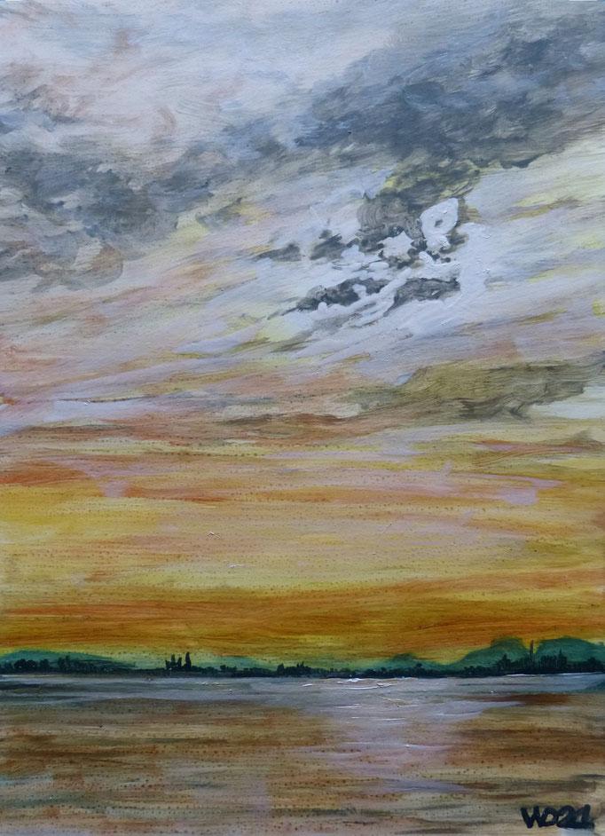 Sunset 82 - 24 x 33 cm  Ölfarbe auf Papier   45.00 €